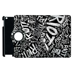 Panic At The Disco Lyric Quotes Retina Ready Apple Ipad 3/4 Flip 360 Case by Onesevenart