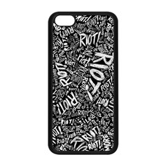 Panic At The Disco Lyric Quotes Retina Ready Apple Iphone 5c Seamless Case (black) by Onesevenart