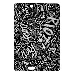 Panic At The Disco Lyric Quotes Retina Ready Amazon Kindle Fire Hd (2013) Hardshell Case by Onesevenart