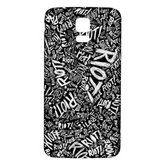 Panic At The Disco Lyric Quotes Retina Ready Samsung Galaxy S5 Back Case (white) by Onesevenart