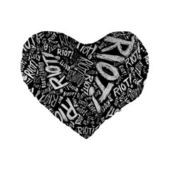 Panic At The Disco Lyric Quotes Retina Ready Standard 16  Premium Flano Heart Shape Cushions by Onesevenart