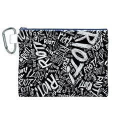 Panic At The Disco Lyric Quotes Retina Ready Canvas Cosmetic Bag (xl) by Onesevenart