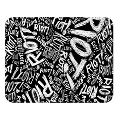 Panic At The Disco Lyric Quotes Retina Ready Double Sided Flano Blanket (large)  by Onesevenart