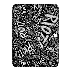 Panic At The Disco Lyric Quotes Retina Ready Samsung Galaxy Tab 4 (10 1 ) Hardshell Case  by Onesevenart