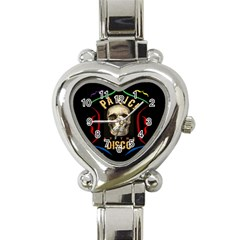 Panic At The Disco Poster Heart Italian Charm Watch by Onesevenart