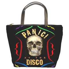 Panic At The Disco Poster Bucket Bags by Onesevenart