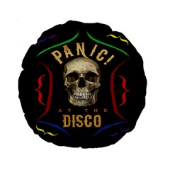 Panic At The Disco Poster Standard 15  Premium Round Cushions by Onesevenart