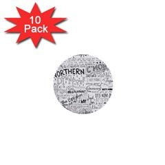 Panic At The Disco Lyrics 1  Mini Buttons (10 Pack)  by Onesevenart