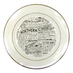 Panic At The Disco Lyrics Porcelain Plates by Onesevenart