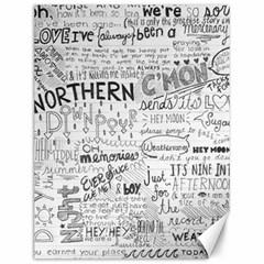 Panic At The Disco Lyrics Canvas 12  X 16   by Onesevenart