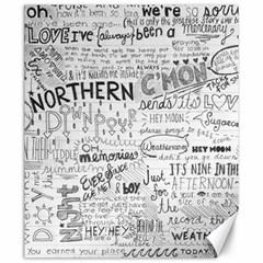 Panic At The Disco Lyrics Canvas 20  X 24   by Onesevenart