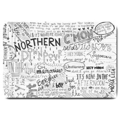 Panic At The Disco Lyrics Large Doormat  by Onesevenart