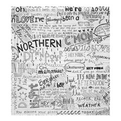 Panic At The Disco Lyrics Shower Curtain 66  X 72  (large)  by Onesevenart