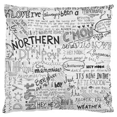 Panic At The Disco Lyrics Large Cushion Case (two Sides) by Onesevenart