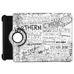 Panic At The Disco Lyrics Kindle Fire Hd Flip 360 Case by Onesevenart