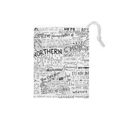 Panic At The Disco Lyrics Drawstring Pouches (small)  by Onesevenart