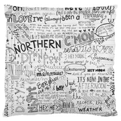 Panic At The Disco Lyrics Standard Flano Cushion Case (two Sides) by Onesevenart