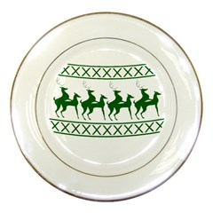 Humping Reindeer Ugly Christmas Porcelain Plates by Onesevenart
