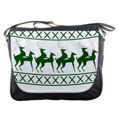Humping Reindeer Ugly Christmas Messenger Bags by Onesevenart