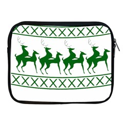 Humping Reindeer Ugly Christmas Apple Ipad 2/3/4 Zipper Cases by Onesevenart