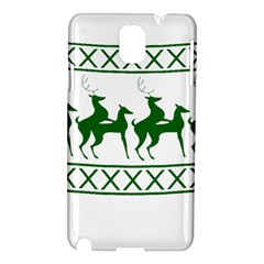 Humping Reindeer Ugly Christmas Samsung Galaxy Note 3 N9005 Hardshell Case by Onesevenart