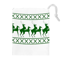 Humping Reindeer Ugly Christmas Drawstring Pouches (extra Large) by Onesevenart