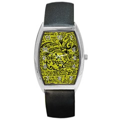 Panic! At The Disco Lyric Quotes Barrel Style Metal Watch by Onesevenart