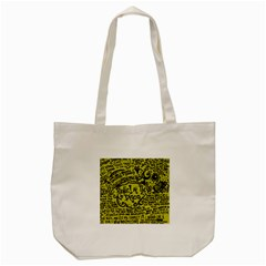 Panic! At The Disco Lyric Quotes Tote Bag (cream) by Onesevenart