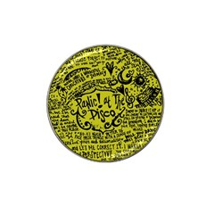 Panic! At The Disco Lyric Quotes Hat Clip Ball Marker by Onesevenart