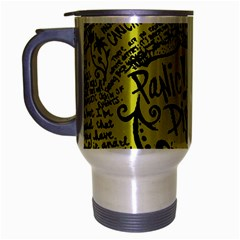 Panic! At The Disco Lyric Quotes Travel Mug (silver Gray) by Onesevenart