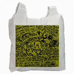 Panic! At The Disco Lyric Quotes Recycle Bag (one Side) by Onesevenart