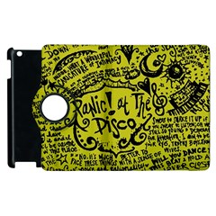 Panic! At The Disco Lyric Quotes Apple Ipad 3/4 Flip 360 Case by Onesevenart
