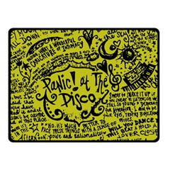 Panic! At The Disco Lyric Quotes Double Sided Fleece Blanket (small)  by Onesevenart