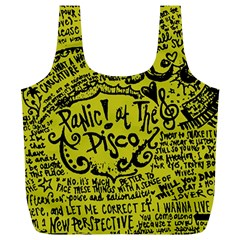 Panic! At The Disco Lyric Quotes Full Print Recycle Bags (l)  by Onesevenart