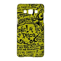 Panic! At The Disco Lyric Quotes Samsung Galaxy A5 Hardshell Case  by Onesevenart