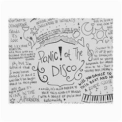 Panic! At The Disco Lyrics Small Glasses Cloth (2 Side) by Onesevenart