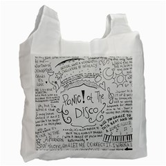 Panic! At The Disco Lyrics Recycle Bag (two Side)  by Onesevenart