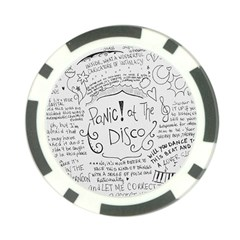 Panic! At The Disco Lyrics Poker Chip Card Guards (10 pack)  by Onesevenart