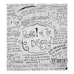 Panic! At The Disco Lyrics Shower Curtain 66  X 72  (large)  by Onesevenart