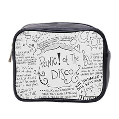 Panic! At The Disco Lyrics Mini Toiletries Bag 2 Side by Onesevenart
