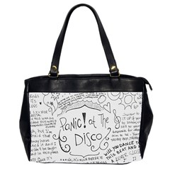 Panic! At The Disco Lyrics Office Handbags (2 Sides)  by Onesevenart