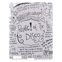 Panic! At The Disco Lyrics Apple Ipad 3/4 Hardshell Case by Onesevenart