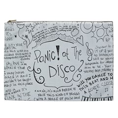 Panic! At The Disco Lyrics Cosmetic Bag (xxl)  by Onesevenart