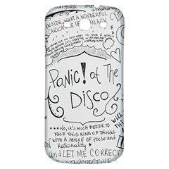 Panic! At The Disco Lyrics Samsung Galaxy S3 S Iii Classic Hardshell Back Case by Onesevenart