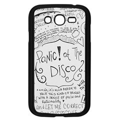 Panic! At The Disco Lyrics Samsung Galaxy Grand Duos I9082 Case (black) by Onesevenart