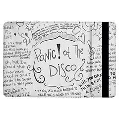 Panic! At The Disco Lyrics Ipad Air Flip by Onesevenart
