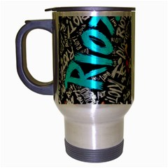 Panic! At The Disco College Travel Mug (silver Gray) by Onesevenart