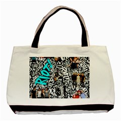 Panic! At The Disco College Basic Tote Bag by Onesevenart