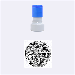 Panic! At The Disco College Rubber Round Stamps (small) by Onesevenart