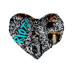 Panic! At The Disco College Standard 16  Premium Heart Shape Cushions by Onesevenart